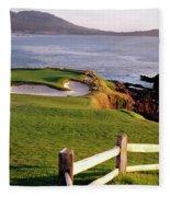 7th Hole At Pebble Beach Golf Links Fleece Blanket