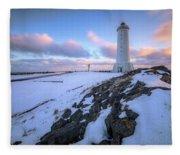 Akranes - Iceland Fleece Blanket