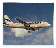 Finnair Airbus A319-112 Fleece Blanket