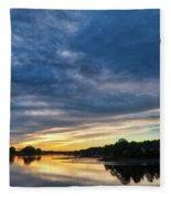 Danvers River Sunset Fleece Blanket