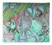 Kintu And Nambi Folktale Fleece Blanket