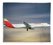 Iberia Airbus A321-212 Fleece Blanket