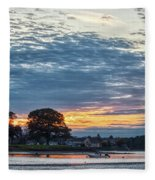 Danvers River Sunset Fleece Blanket