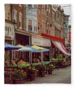 9th Street Italian Maket In South Philadelphia Fleece Blanket