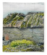 A Barn With A Mossy Roof, Shoreham - Digital Remastered Edition Fleece Blanket