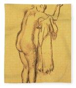 A Bather Drying Herself By E Degas Fleece Blanket