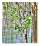 A Beautiful Day In The Bayou Fleece Blanket