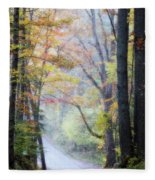 A Canopy Of Autumn Leaves Fleece Blanket