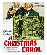 A Christmas Carol Movie Poster 1938 Fleece Blanket