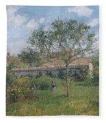 A Corner Of The Meadow At Eragny, 1902 Fleece Blanket