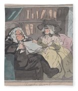 A Counselor's Opinion After He Had Retired From Practice After Thomas Rowlandson British, London 17 Fleece Blanket