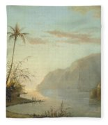 A Creek In St. Thomas Virgin Islands, 1856 Fleece Blanket