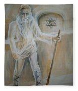A Dacian Priest At The Sinca Veche Temple Fleece Blanket