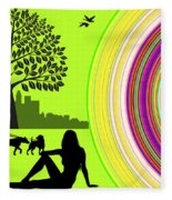 A Day In The Park Fleece Blanket