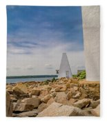 A Different View Goat Island  Fleece Blanket