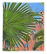 A Don Cesar Palm Frond Fleece Blanket