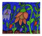 A Flower Garden Fleece Blanket