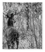 A Forest's Guardian Fleece Blanket by Steven Santamour