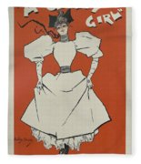 A Gaiety Girl, 1894 French Vintage Poster Fleece Blanket