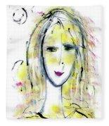 A Girl By The Artist Catalina Lira Fleece Blanket