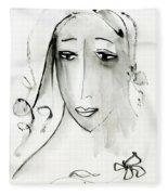 A Girl Fleece Blanket