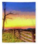 A Gorgeous Blue Ridge Sunrise Ap Fleece Blanket