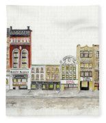 A Greenwich Village Streetscape Fleece Blanket