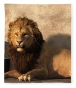 A Lion Among Drums Fleece Blanket