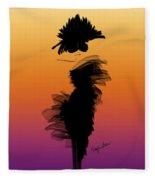 A Little Black Dress In The Sunset Fleece Blanket