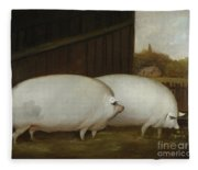 A Pair Of Pigs Fleece Blanket