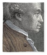 A Portrait Of Immanuel Or Emmanuel Kant Fleece Blanket