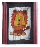 A Red Lion.  Fleece Blanket