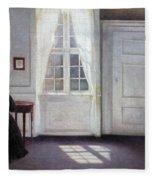 A Room In The Artist's Home In Strandgade, Copenhagen, With The Artist's Wife - Digital Remastered Fleece Blanket