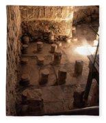 A Room Inside Masada Fleece Blanket