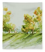 A Simple Landscape Fleece Blanket