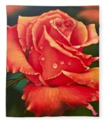 A Single Rose Fleece Blanket