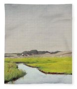 A Stream At Springtime Fleece Blanket