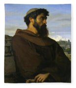 A Thinker A Young Roman Monk Fleece Blanket