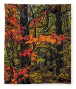 A Time In The Woods Fleece Blanket