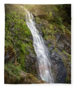 A Touch Of Light On Bridal Veil Falls Fleece Blanket