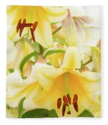 A Tower Of Lilies Fleece Blanket