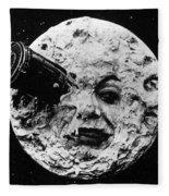A Trip To The Moon, 1902  Fleece Blanket