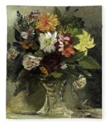 A Vase Of Flowers, 1833 Fleece Blanket