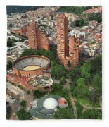 A View Of Downtown Bogota Fleece Blanket
