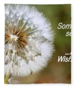 A Weed Or Wish? Fleece Blanket