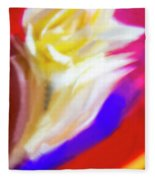 A White Rose In An Abstract Style. Fleece Blanket