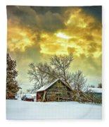 A Winter Eve Fleece Blanket