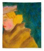 A Woman In A Fur Fleece Blanket
