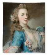 A Young Lady With A Parrot Fleece Blanket