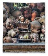 Abandoned Doll Heads Fleece Blanket